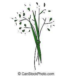 Dill - Childish Illustration Isolated Vector Dill