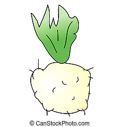 Celeriac - Childish Illustration Isolated  Celeriac
