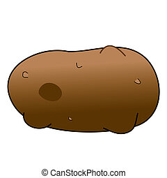 Potato - Childish Illustration Isolated Potato