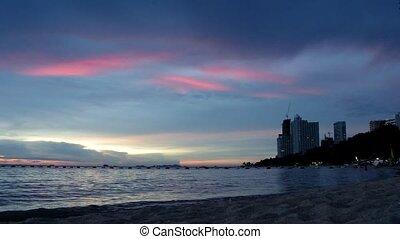 Wong Amat Nights - Red Sundown of Wong Amat Beach