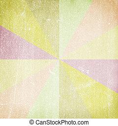 Multicolor Sunbeams. Grunge or vintage background -...
