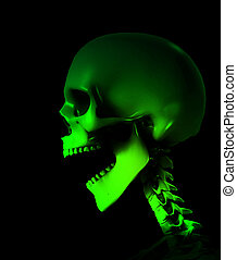 Shouting Skeleton - Skeleton that is shouting for medical or...