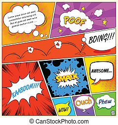 Comic Speech Bubble - illustration of colorful comic speech...
