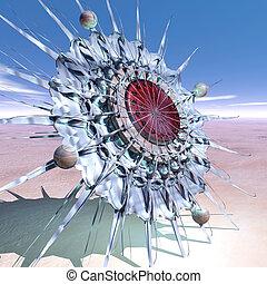 sundial-flower in the desert