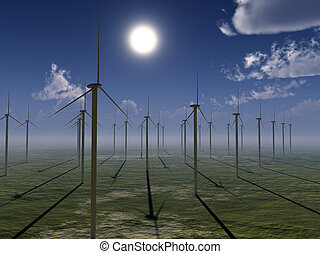 Wind Farm - Wind farm for environmental and energy concepts...