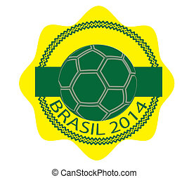 icon brasil 2014 - Sign, symbol, stamp or icon brasil 2014