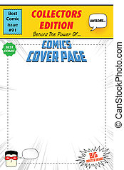 Comic Book Cover - illustration of comic book cover in pop...