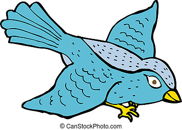 cartoon flying bird