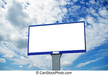 billboard - advertising billboard on sky background