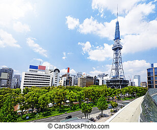 Nagoya downtown daytime, Japan City - Nagoya landmark, Japan...