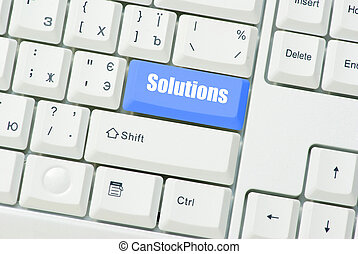 button Solutions - Computer keyboard blue key Solutions