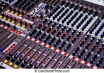 Audio Mixer - professional audio mixer desk at he Concert