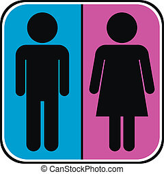 Male and Female icons on white background.