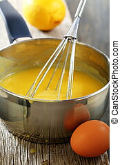 Lemon custard in the dipper. - Lemon custard in the dipper...