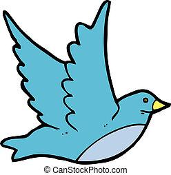 cartoon flying bird