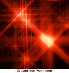 Abstract background with a shone red star
