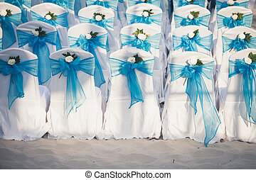 Wedding chairs blue color