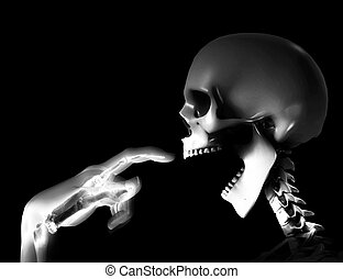 Hungry Skeleton - Skeleton indicating that it is hungry.