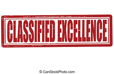 Classified excellence - Stamp with text classified...