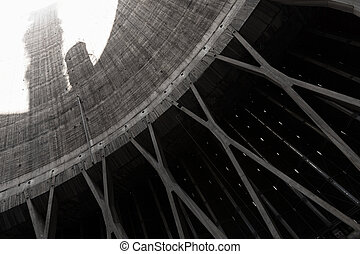 cooling tower - inside of a cooling tower thermal power...