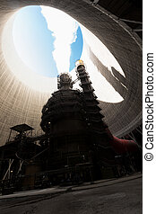 cooling tower inside - inside of a cooling tower thermal...