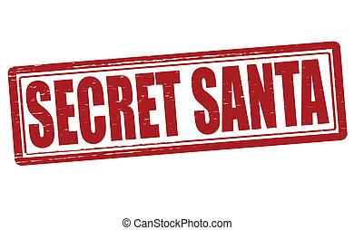 Secret Santa - Stamp with text secret Santa inside, vector...