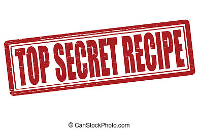 Top secret recipe - Stamp with text top secret recipe...
