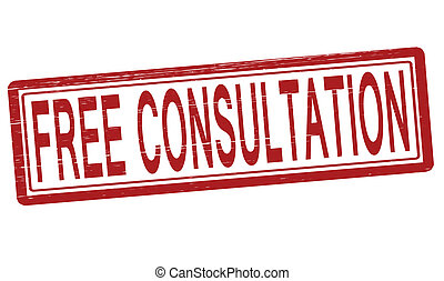 Free consultation - Stamp with text free consultation...