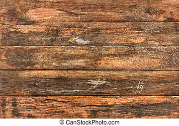 Old Weathered Peeled Varnished Planks - Patio garden table...
