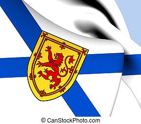 Flag of Nova Scotia, Canada Close Up