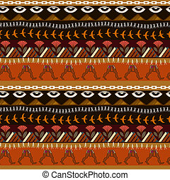 Seamless ethnic pattern with elements of Egyptian style