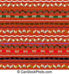 Seamless ethnic pattern with geometric design elements