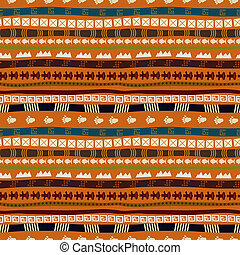 Ethnic abstract pattern with African motives