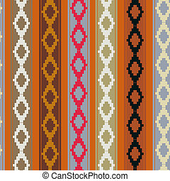 Seamless ethnic texture with geometric design elements