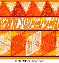 Seamless texture with geometric tribal Indian elements
