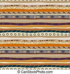 Abstract seamless pattern of African