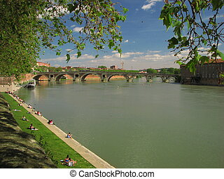 Riverside Garonne - Toulouse, Capital of Haute Garonne and...
