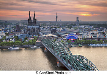Cologne, Germany. - Image of Cologne with Cologne Cathedral...