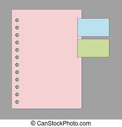 sticky notes - blank paper template sticky notes with...