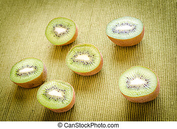 Cross section kiwifruits
