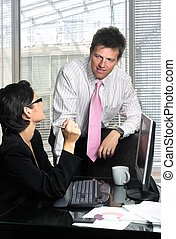 Business Teamwork - Young and good-looking business people...