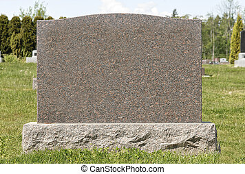 Large Blank Tombstone - Tombstone in the Cemetery