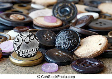 Sewing buttons - Variety of sewing buttons