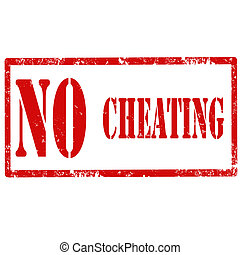 No Cheating-stamp - Grunge rubber stamp with text No...