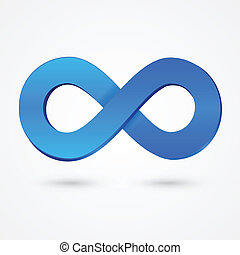 Abstract infinity blue sign