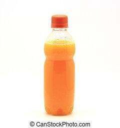 orange juice bottle Isolated on white background