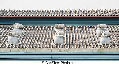 Roof ventilator for heat control in industrial factory and...