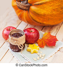 Autumn concept of food Halloween - Halloween Atumn concept...