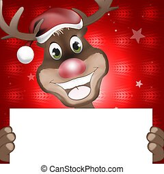 Reindeer Happy Christmas Smile Creative Happy Design -...