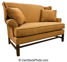 Chippendale Settee Loveseat with Cherry Wood Legs